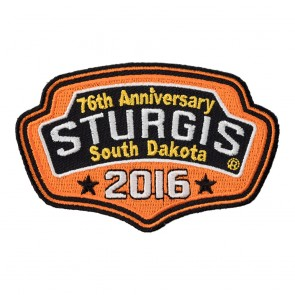 2016 Sturgis 76th Motorcycle Rally Orange Plaque Embroidered Event Patch