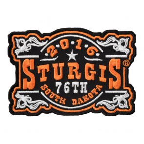 2016 Sturgis 76th Anniversary Motorcycle Rally Vintage Plaque Event Patch