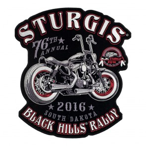 2016 Sturgis 76th Annual Black Hills Rally Vintage Motorcycle Event Patch