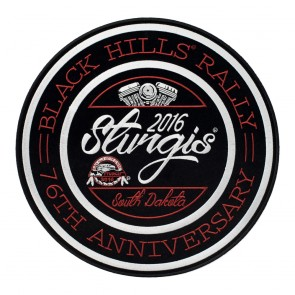 2016 Sturgis 76th Black Hills Rally V-Twin Round Iron On Event Patch