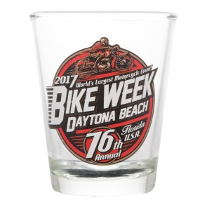 2017 Daytona Beach Bike Week 76th Official Shot Glass