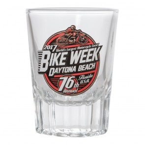 2017 Daytona Beach Bike Week Official Old Fashioned Shot Glass