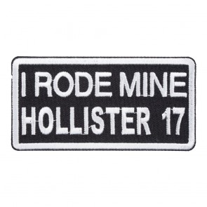 2017 Hollister Rally I Rode Mine White Event Patch