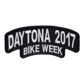 2017 Daytona Bike Week Stacked White Rocker Event Patch