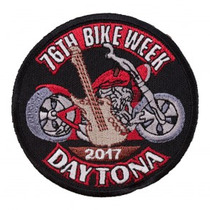 2017 Daytona Bike Week 76th Guitar & Motorcycle Event Patch