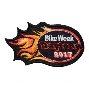 2017 Daytona Bike Week Orange Flames Event Patch