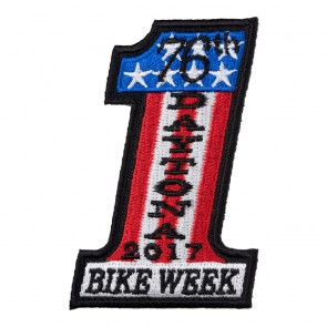 2017 Daytona Bike Week 76th US Flag #1 Event Patch