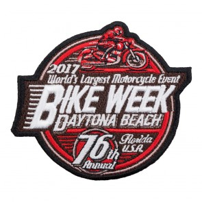 Embroidered 2017 Daytona Beach Bike Week Iron On Patch