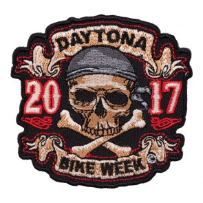 2017 Daytona Bike Week Skull & Crossbones Pirate Event Patch