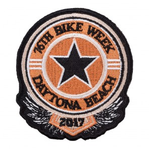 2017 Daytona Bike Week 76th Sheriff Star Black & Orange Event Patch