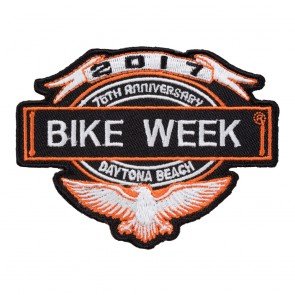 2017 Daytona Bike Week 76th Anniversary Eagle & Banner Event Patch