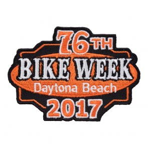 2017 Daytona Beach 76th Bike Week Orange & Black Event Patch