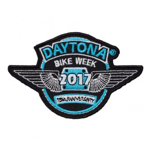 2017 Daytona Bike Week 76th Anniversary Blue & White Wings Event Patch