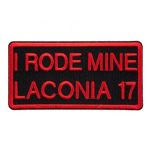 2017 Laconia I Rode Mine Red Event Patch
