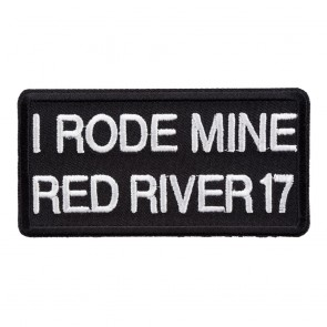 2017 Red River I Rode Mine White Event Patch