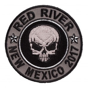 2017 Red River Grey Skull Round Event Patch