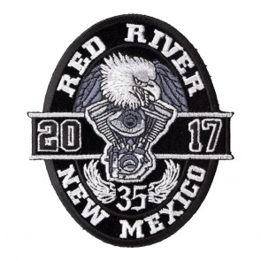 2017 Red River Black Oval Eagle Event Patch