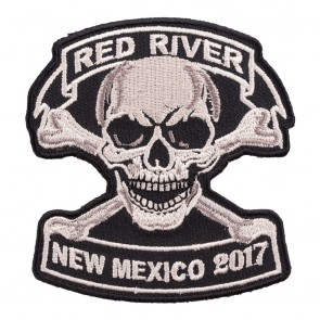 2017 Red River Tan Skull & Crossbones Event Patch
