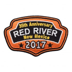 2017 Red River Orange Plaque Event Patch
