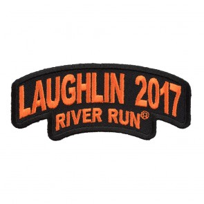 Laughlin River Run Stacked Orange Rocker Event Patch