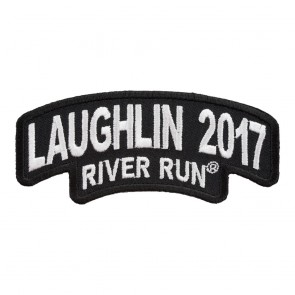 2017 Laughlin River Run Stacked White Rocker Event Patch