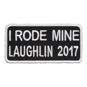 2017 Laughlin I Rode Mine White Event Patch