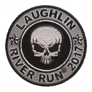 2017 Laughlin River Run Grey Skull Round Event Patch