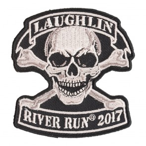 2017 Laughlin River Run Tan Skull & Crossbones Event Patch