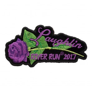 2017 Laughlin River Run Purple Rose & Stem Event Patch