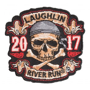 2017 Laughlin River Run Skull & Crossbones Pirate Event Patch