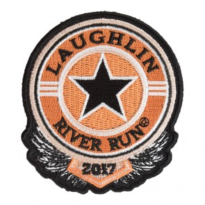 2017 Laughlin River Run Sheriff Star Black & Orange Event Patch