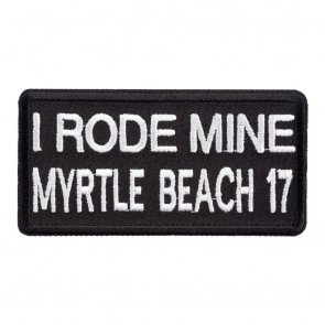 2017 Myrtle Beach I Rode Mine White Event Patch