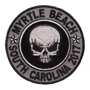 2017 Myrtle Beach Grey Skull Round Event Patch