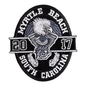2017 Myrtle Beach Black Oval Eagle Event Patch