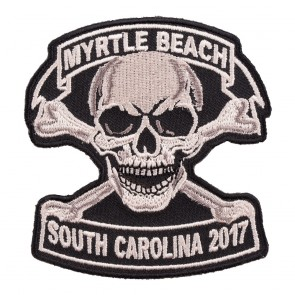 2017 Myrtle Beach Tan Skull & Crossbones Event Patch