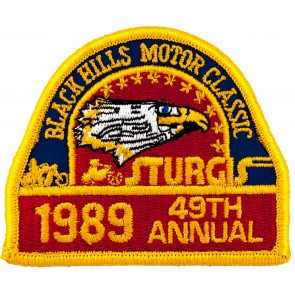 49th 1989 Sturgis Motorcycle Rally Official Past Year Event Patches