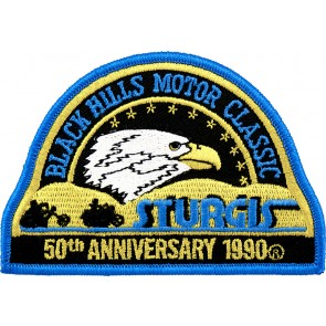 50th 1990 Sturgis Motorcycle Rally Official Past Year Event Patches