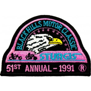 51st 1991 Sturgis Motorcycle Rally Official Past Year Event Patches