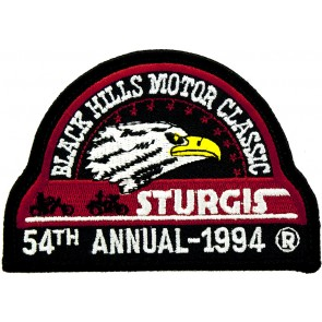 54th 1994 Sturgis Motorcycle Rally Official Past Year Event Patches
