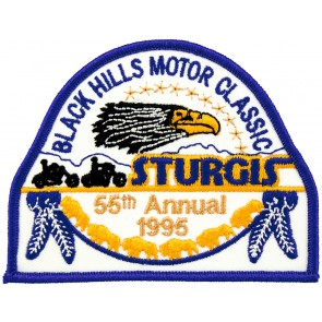 55th 1995 Sturgis Motorcycle Rally Official Past Year Event Patches