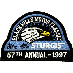 57th 1997 Sturgis Motorcycle Rally Official Past Year Event Patches