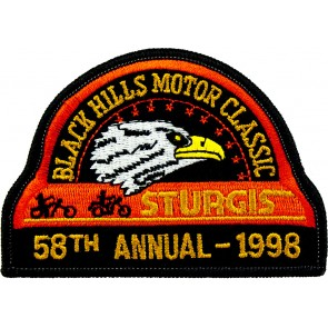 58th 1998 Sturgis Motorcycle Rally Official Past Year Event Patches