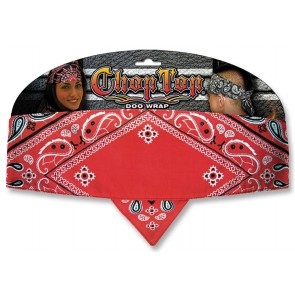 Traditional Red Diamond Paisley Good Time Chop Top Bandana