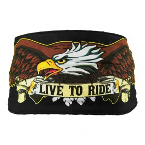 Patriotic Live To Ride Eagle & Wings Chop Top Bandana