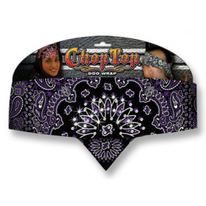 Purple Paisley & Rhinestone Studded Ladies Chop Top Bandana