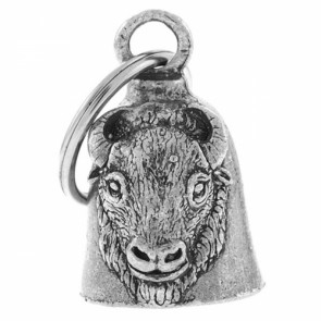 Buffalo Head Pewter Motorcycle Guardian Bell