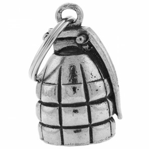 Grenade Pewter Motorcycle Guardian Biker Bell