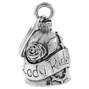 Lady Rider Rose Pewter Guardian Biker Bell