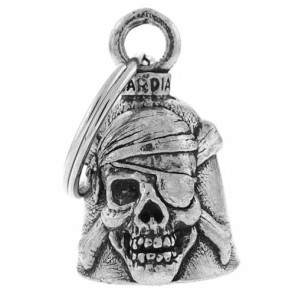 Pewter Pirate Skull And Crossbones Guardian Bell