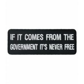 If It Comes From The Government Patch, Political Patch